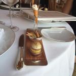 Nos plats et la très belle vue que nous avions.