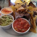 Trio of dips-delicious