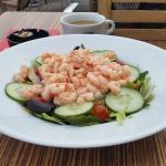 Prawn salad - certainly didnt skimp on the prawns!