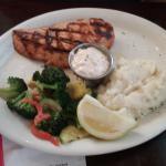 salmon and garlic potatoes