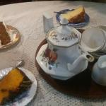 Tea and cake for three lovely