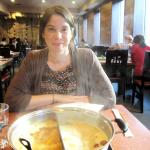 My friend Catherine at the Little Sheep Mongolian Hot Pot in Montreal