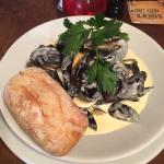 Cornish muscles in a creamy cider sauce.