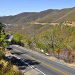 View of New Priest Grade Road, Moccasin, Nr Yosemite NP, CA, USA