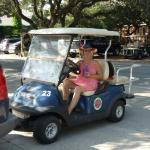 Leaving room to go roaming in our golf cart. So much fun.