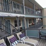 The 2nd and 3rd floor rear porches