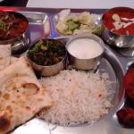 Non vegetarian Thali . Selection of dishes, great if like me you are unable to make up your mind