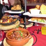 Various tapas dishes. Note the portions