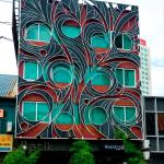 The arty and attractive frontage of Batik Boutique Hotel