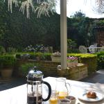 AMAZING breakfast in the courtyard