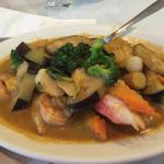 Seafood combination thai curry