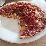 Roma Pizza - pumpkin, artichoke, goats cheese and sun-dried tomato