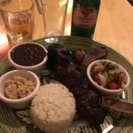 Steak with rice and beans!