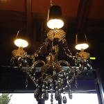 Love chandeliers in restaurants!