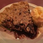 Derby pie warmed with chocolate, pecans and ice cream! Wow, was it good!