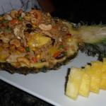 Fresh Pineapple with the Fried Rice
