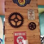 Some of the vintage signs in the featured decor--it was fun to visit.