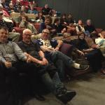 Cinema Paradiso, Wanaka - a packed house! I'm the idiot in the front with 2 thumbs up...