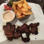 Viande de bœuf et côte de porc