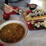 soupe du jour + sushis