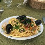 the best mixed seafood with fresh pasta