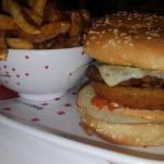 Well prepared beef burger, the portion of fries is huge!