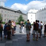 In the courtyard of the Seminary in Old Quebec City