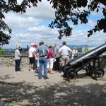 On the ramparts of old Quebec City