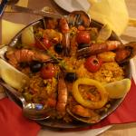 Paella mit Meeresfrüchten für 2 Personen