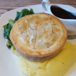 Steak and ale pie with sticky toffee pud
