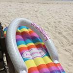 Jonys's beach front. Sun sand shakes