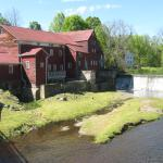 An old water wheel mill and pond are one of the many interesting sites in the area.