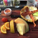 Southwest skillet with fruit