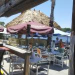 Beautiful view, cold drinks... Lisa is amazing at the Tiki Bar