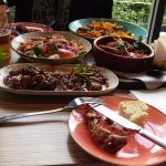 My three tapas dishes including Gambas.