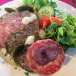 Assiette de charcuterie du menu à 16€50