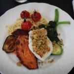 L'assiette de ma fille ! : 1/2 cabillaud crumble parmesan basilic