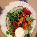 Salad with blue cheese dressing
