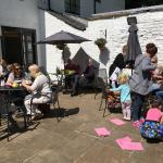 Our lovely sunny courtyard