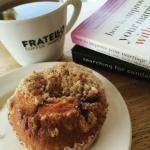 A cup of Rooibos herbal tea, a Saskatoon and blueberry muffin, and a few good books to catch up.