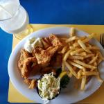Best Fish & Chips I have ever eaten.   Sister had Fish Tacos,  they were just as  FABULOUS.