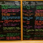 Colorful menu of HOT sammies!