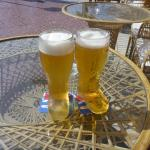 Expensive Beers in Boot Glasses