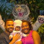 """With the white tiger ( the live one was in his """"Palace"""" nearby"""