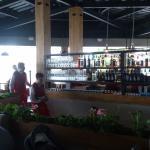 Вид со столика на спуск на первый этаж и изнанку бара:)