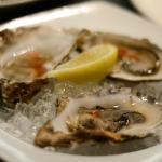 fresh, Scottish oysters on ice