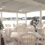 Covered Deck dinning area over looking the harbour