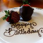 complimentary surprise to celebrate two birthdays at our table