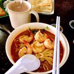 Nice Sarawak style laksa. Five big prawns are given for the BIG SPECIAL size, price is expensive