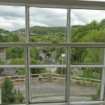 The view from the room, across Matlock Bath and the Derwent Valley.